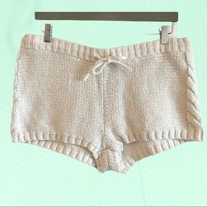 Aerie white cable knit lounge shorts